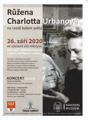 Výstava fotografií a obrazů pavlíkovské rodačky R.Ch.Urbanové